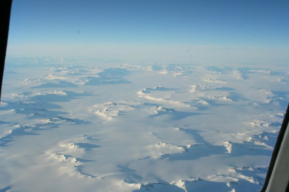 Aerial view of Antarctica.  Photo credit: L. McFadden 2008