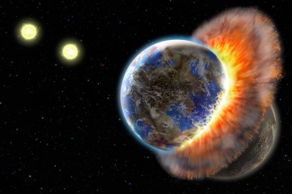 Exoplanet collision in BD+20 301. Possibly an Earth-like rocky exoplanet was involved? (Lynette Cook)