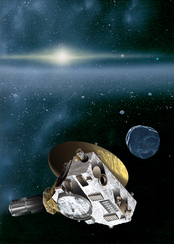 Artist rendition of New Horizons in the Kuiper Belt.  Credit:  Johns Hopkins University Applied Physics Laboratory/Southwest Research Institute (JHUAPL/SwRI) 