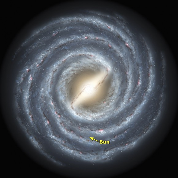 Map of the Milky Way. Image credit: Caltech