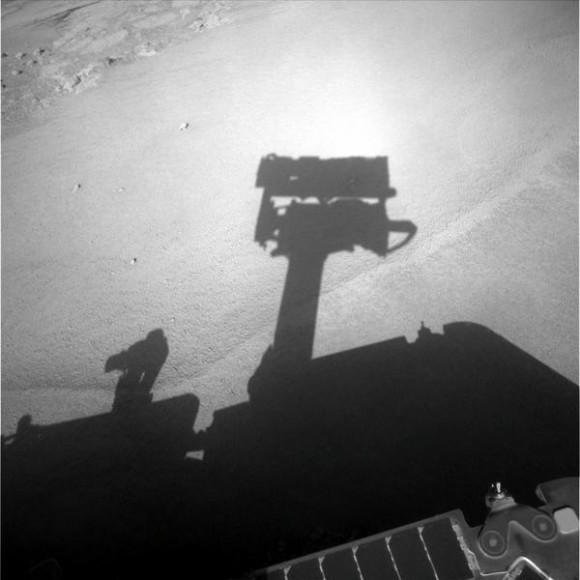 Opportunity self shadow portrait.  Credit:  NASA/JPL/Cornell 