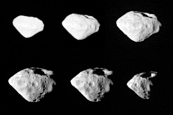 Mosaic of images from Rosetta\'s fly by.  Credit:  ESA