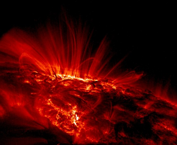 Sun seen from TRACE. Image credit: NASA