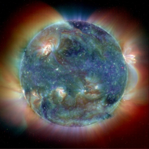 Ultraviolet view of the Sun. Image credit: SOHO