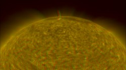Picture of the Sun in 3-D. Image credit: NASA