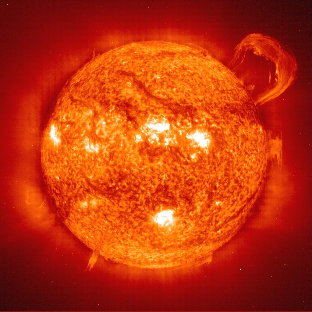 Sun with a huge corona...
