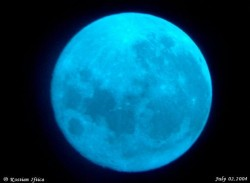 Blue Moon made with a blue filter. Image credit: Kostian Iftica