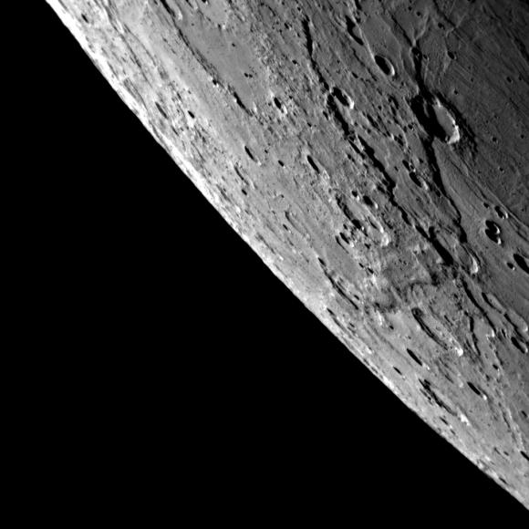 Mercury's limb.  Credit: NASA/Johns Hopkins University Applied Physics Laboratory/Carnegie Institution of Washington