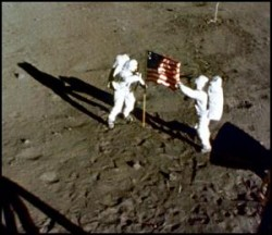 Flag on the Moon. Image credit: NASA
