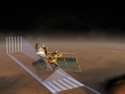 The Mars Reconnaissance Orbiter using its Mars Climate Sounder instrument.  Credit:  JPL