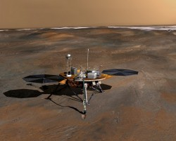 Artist concept of the Phoenix lander.  Credit: NASA