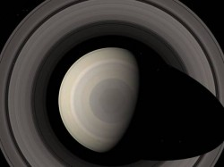 The Saturn hexagon as seen by Voyager 1 in 1980 (NASA)