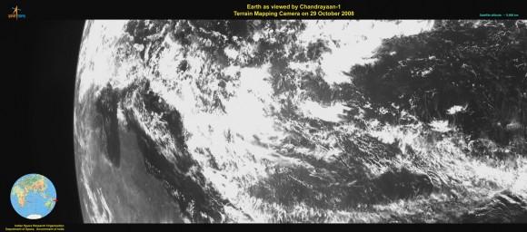 Chandrayaan-1: Earth from 9,000 km. Credit:  ISRO