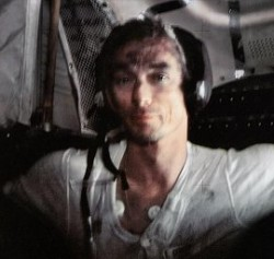 Apollo astronaut Gene Cernan covered with moon dust (NASA)