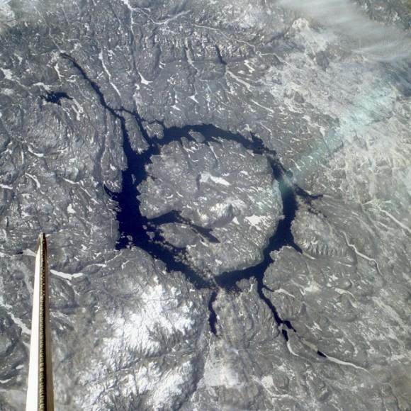 Manicouagan Reservoir.  Credit: NASA