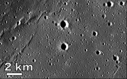 Basalt deposits on the Moon. Image credit: NASA