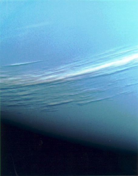Clouds above Neptune. Image credit: NASA/JPL