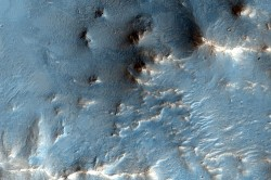 "Nili Fossae region on Mars, a methane ""hotspot: Credit: NASA/JPL/U of AZ"