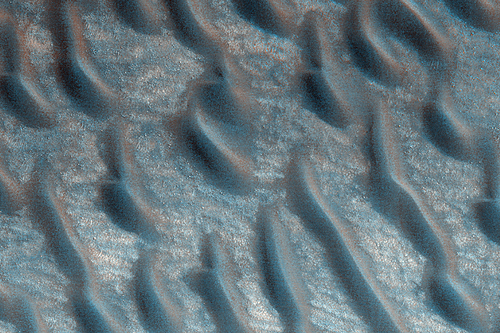 TARS in the northern lowlands on Mars, as seen by HiRISE.  Credit: NASA/JPL/U of AZ