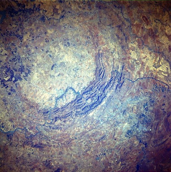 Vredefort Crater.  Image: NASA