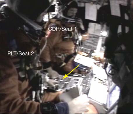 Recovered flight deck video from Columbia.