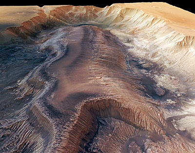 Herbes Chasma and LTDs. Credit: ESA