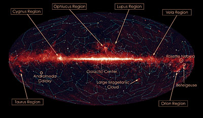 Infrared map of the Milky Way. Image Credit: NASA/JPL-Caltech