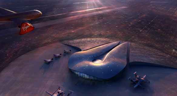 Artist&#039;s concept of the New Mexico&#039;s Spaceport America.  Courtesy NMSA