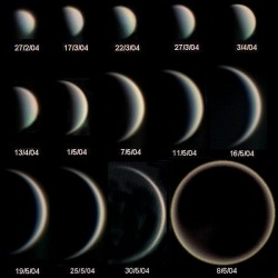 Phases of Venus. Image credit: ESO