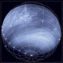 Venus in ultraviolet. Credits: ESA/MPS/DLR/IDA