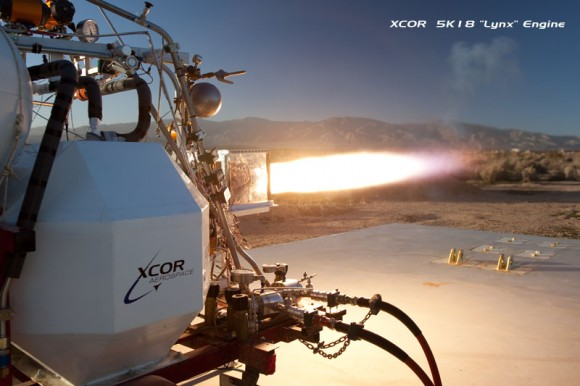 "5K18 ""Lynx"" engine.  Credit:  XCOR and Mike Massee"