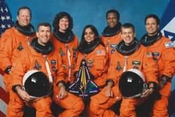 Coumbia Crew - On February 1, 2003, after a 16-day scientific mission, space shuttle Columbia disintegrated during its reentry into the Earth&#039;s atmosphere, killing astronauts Rick Husband, William McCool, Michael Anderson, David Brown, Kalpana Chawla, Laurel Clark, and the first Israeli astronaut in space, Ilan Ramon.