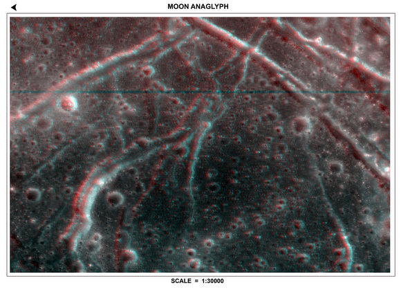 3D anaglyph from the TMC.  Credit:  ISRO