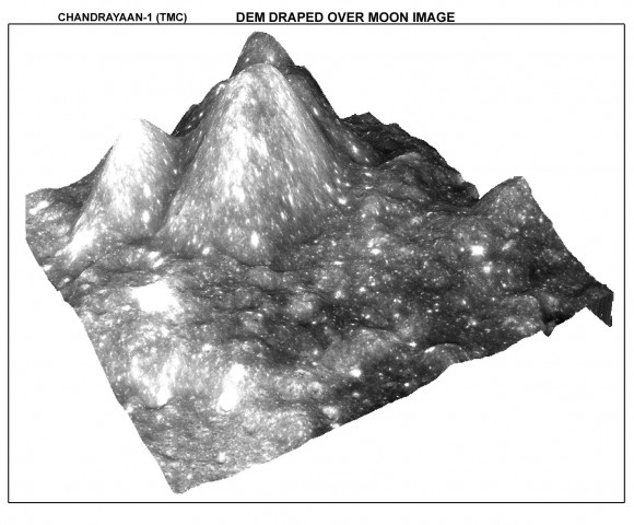 Moon 3D from the TMC.  Credit:  ISRO