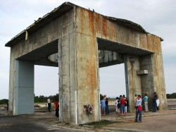 All that remains of the original Pad 34 complex where Ed White, Gus Grissom and Roger Chaffee lost their lives in a pad fire in 1967. Image credit Dave Reneke 