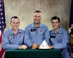 Apollo 1 Crew. Ed White, Gus Grissom and Roger Chaffee.