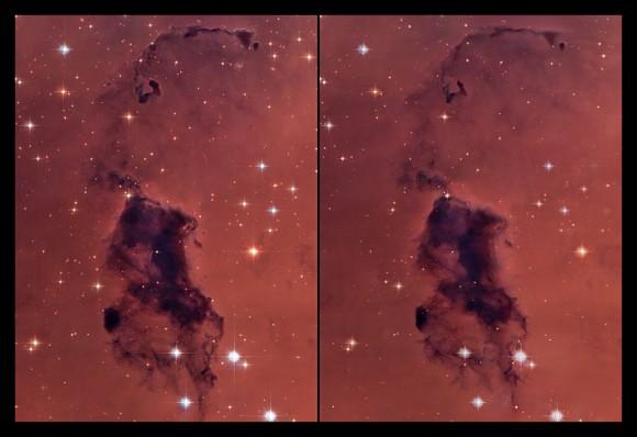 NGC281/IC1590 Hubble Heritage Parallel Vision - Jukka Metsavainio