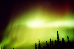 Aurora from 2002 in Poker Flats, Alaska.  Credit: Dr. Scott Bounds