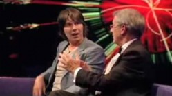 You did NOT just say that! Brian Cox's expression says it all... (still from the BBC's Newsnight program)