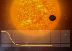 COROT detects small, transiting exoplanet. Credits: CNES
