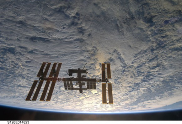 The ISS after the STS-126 shuttle mission in November 2008.  Credit: NASA