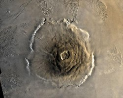 Olympus Mons from orbit.  Credit NASA