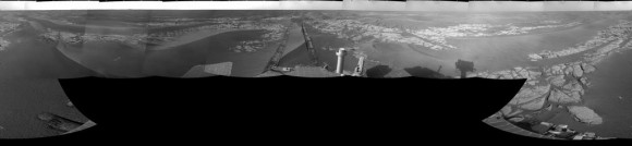 Latest panorama from Opportunity from Sol 1770.  Credit: NASA/JP