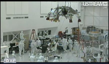 Screenshot of JPL's MSL clean room activities on UStream.