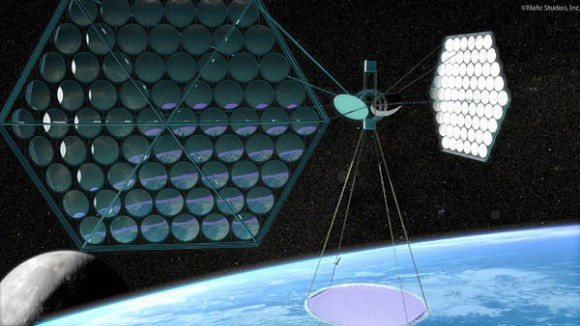Solar Collecting Satellite. Image courtesy of Mafic Studios.