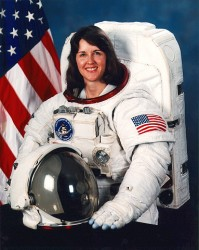 Kathryn Thornton, before a Shuttle mission (NASA)