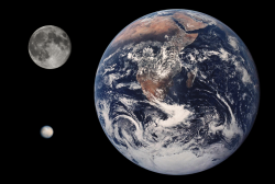 Now THAT is a dw<span>arf plan</span>et: The size comparison of the Earth, Moon and Ceres (NASA)