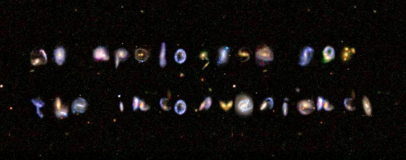 Unusual galaxy cluster discovered by Galaxy Zoo volunteers. Credit: Galaxy Zoo