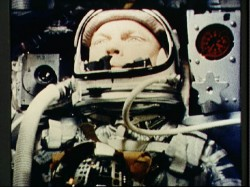 John Glenn during his flight.  Credit: NASA