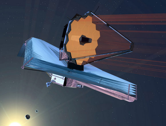 Artists concept of the JWST in space.  Credit: NASA